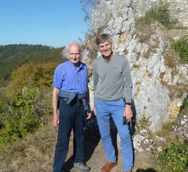 Mit Rainer Zachmann bei der Rusen-Ruine nahe Blaubeuren